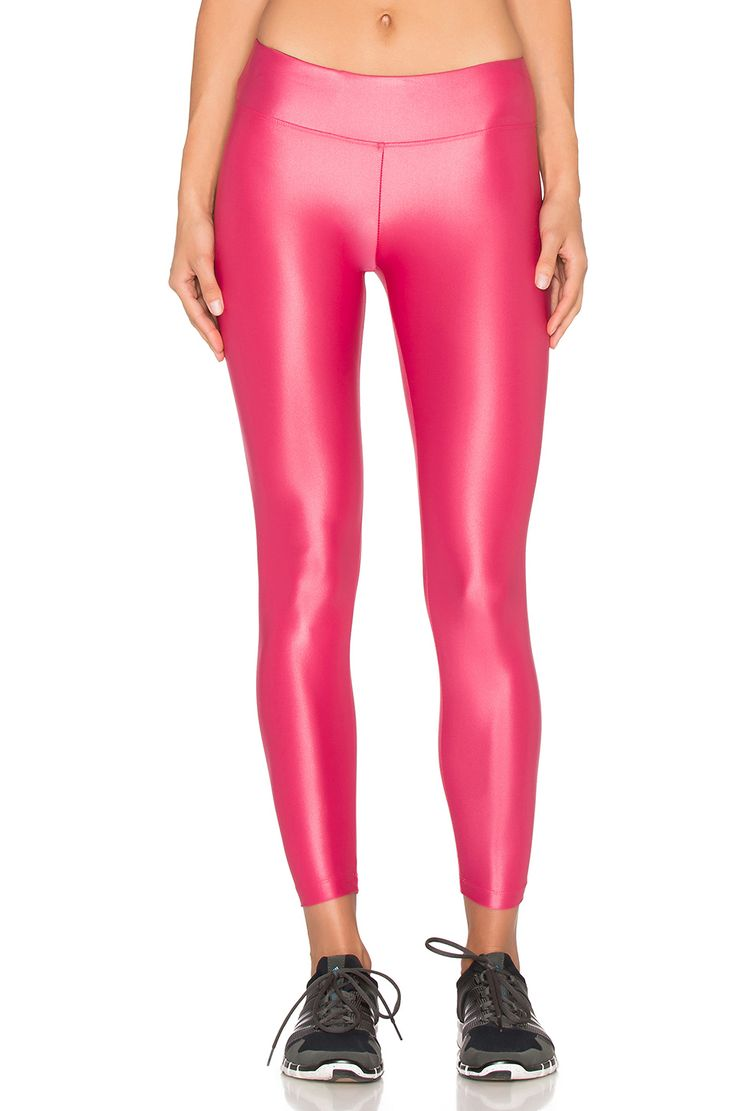 koral activewear Lustrous leggings in carmine