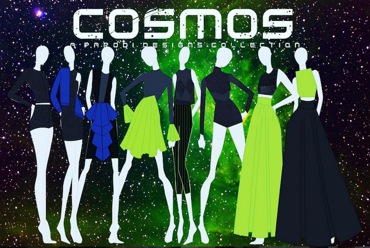 Concept drawings for Abbey's collection Cosmos.