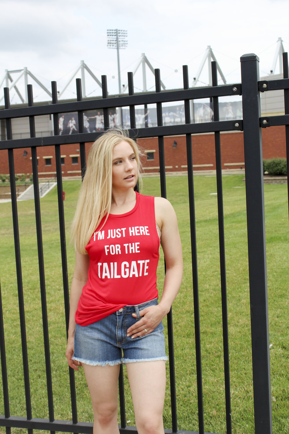 hello ruby Husker Collection here for the tailgate muscle tee
