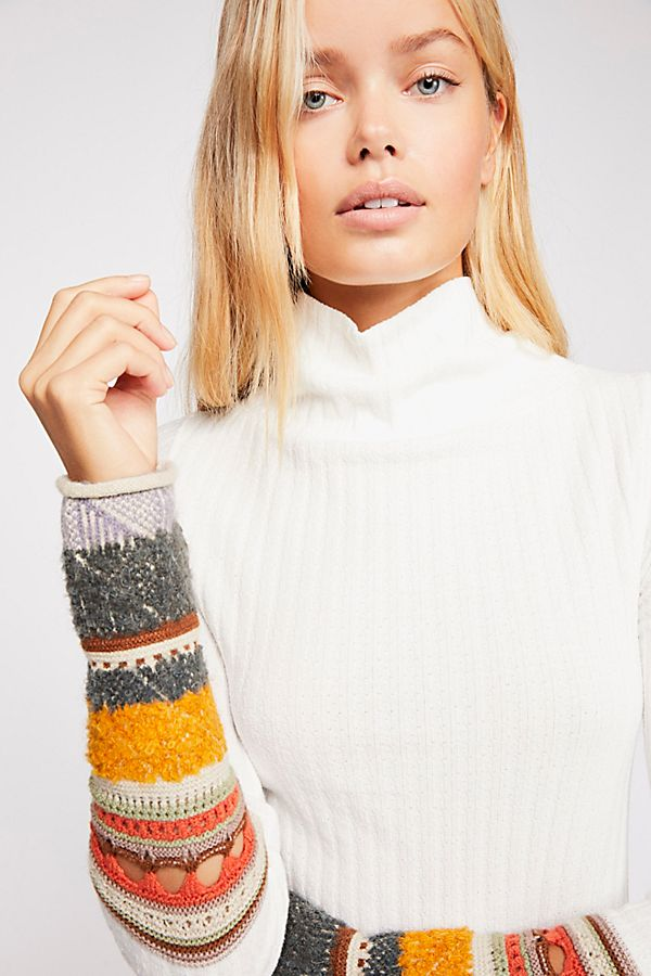 Free People Mixed Up Cuff Top