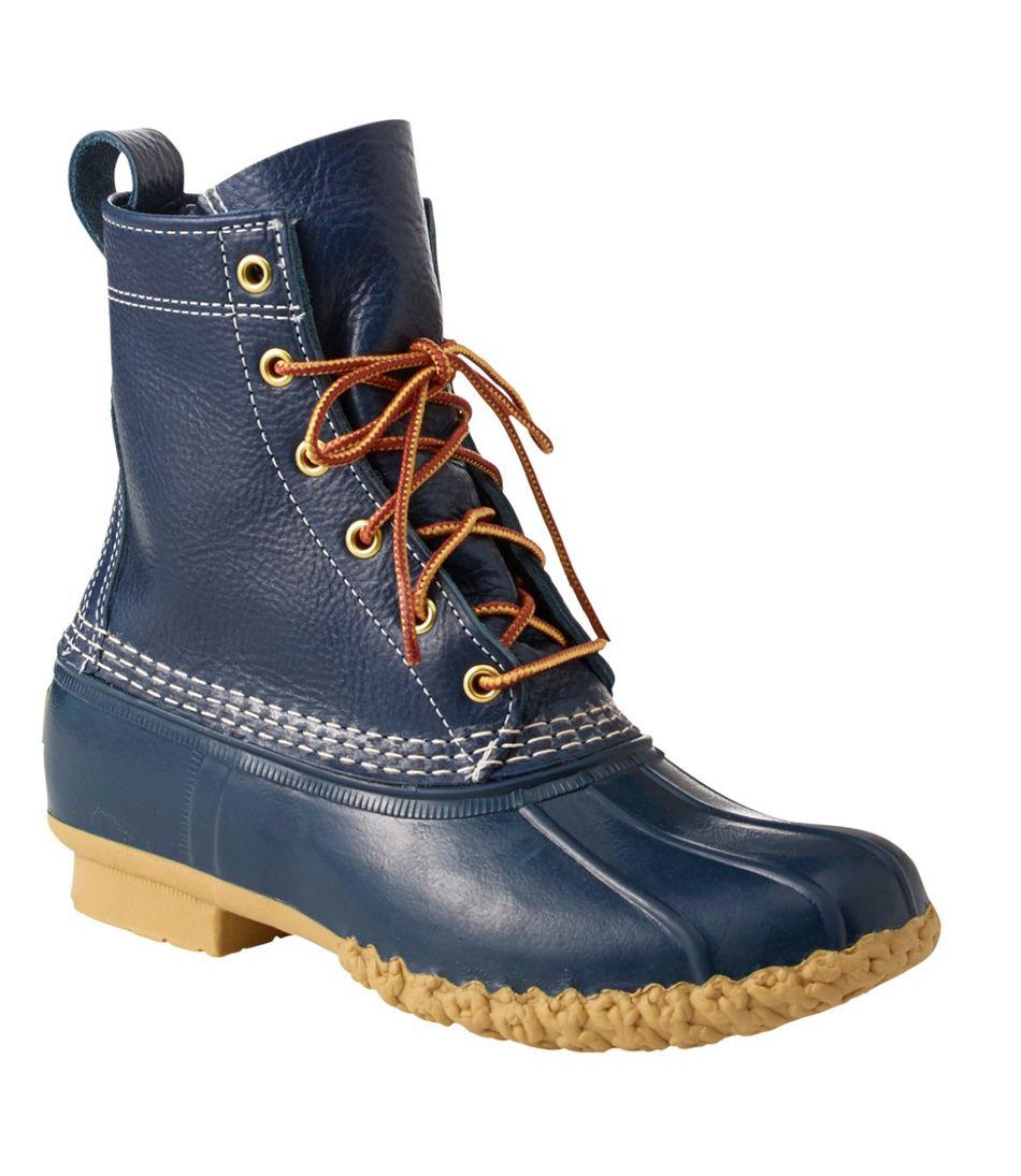 L.L. Bean Duck Boots in Raven Blue