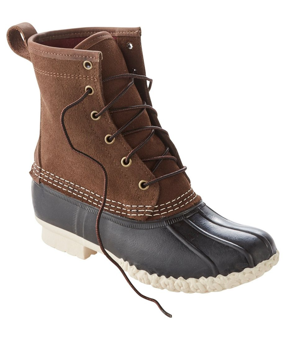 L.L. Bean Duck Boot, Leather Chamois-Lined in Dark Earth