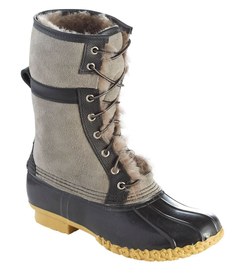 Wicked Good L.L. Bean Duck Boots in Graystone/Black