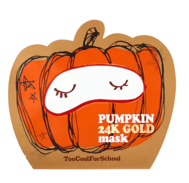 Too Cool For School Pumpkin 24K Gold Sheet Mask.png