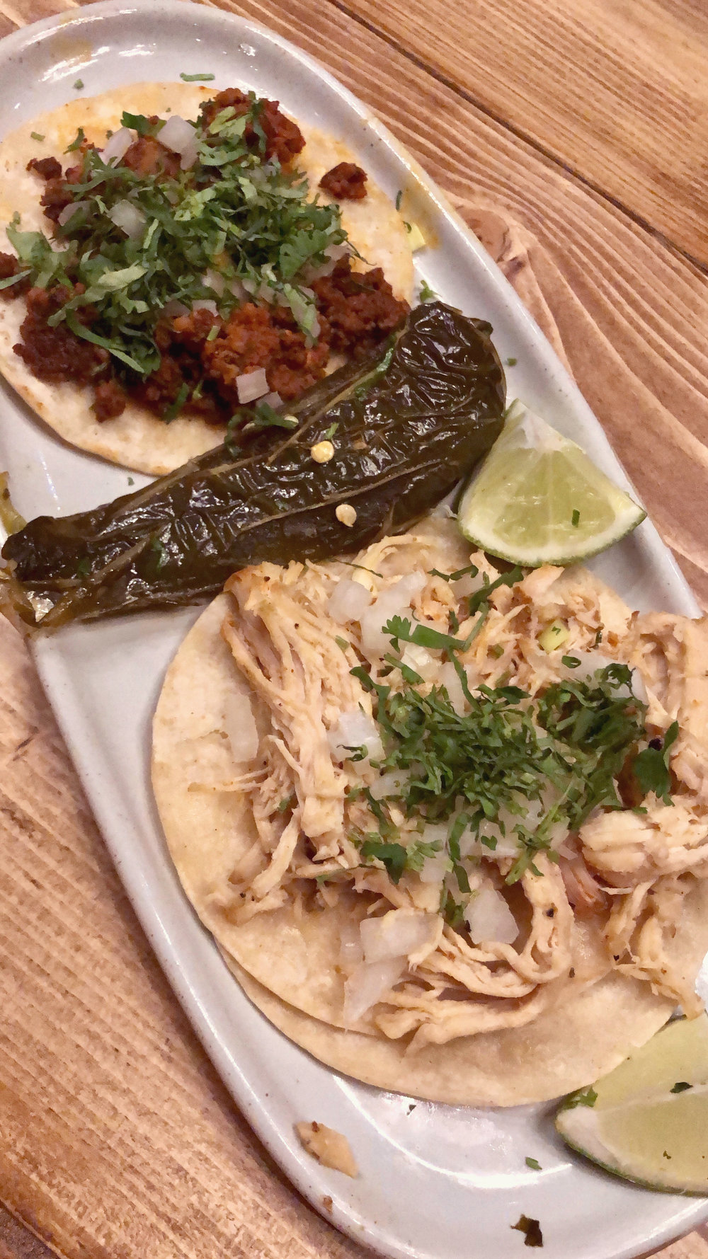 Epoca Cantina Chicken & Chorizo Tacos