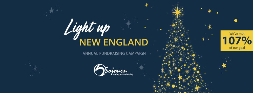Light up New England: We've met 107 percent of our goal.