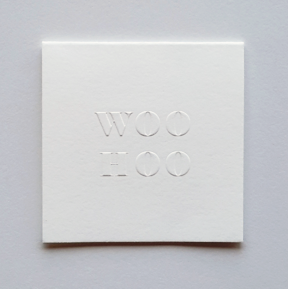Our WOOHOO poco card ($5).