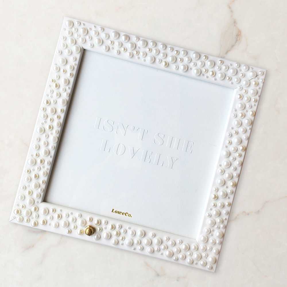 White Frame with Pearl Detail — LoweCo.
