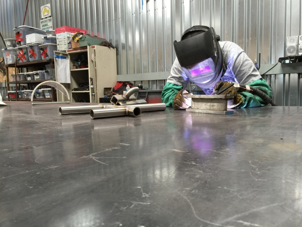 Summit welding apprentice at work