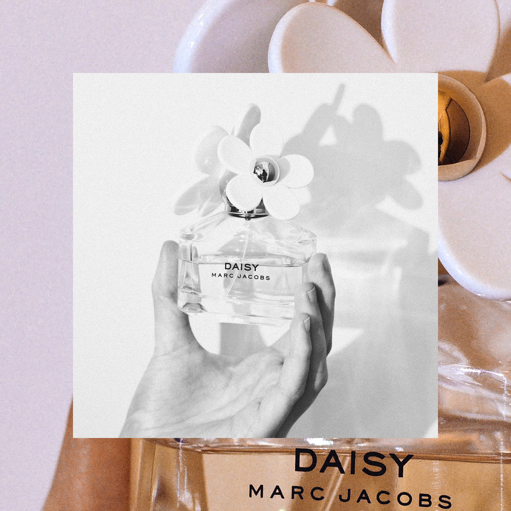 Perfume featured is  Daisy by Marc Jacobs.