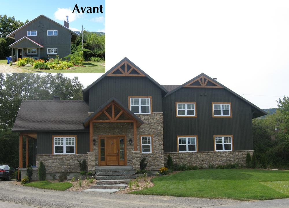 Rénovation extérieure d'envergure et agrandissement effectué en 2010. Cette rénovation s'est méritée le prix Nobilis dans la catégorie rénovation résidentielle, 100 000$ à 400 000$.