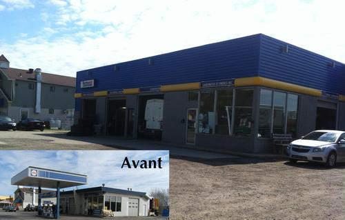 Rénovation extérieure complète d'un garage à Beaupré.