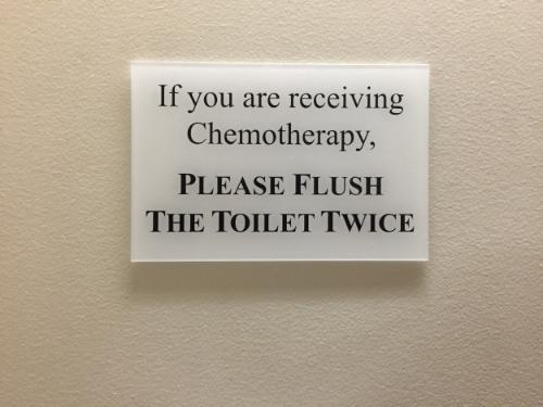 A sign you have entered Cancerland...