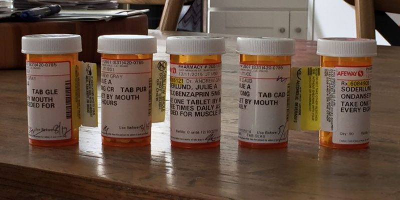 My current cocktail of prescriptions!