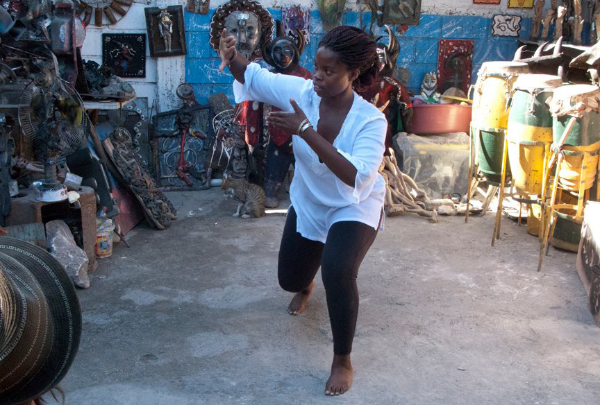 "A still from ""Think.Love.Haiti."" (2013, Ghetto Biennale, Port-Au-Prince)"