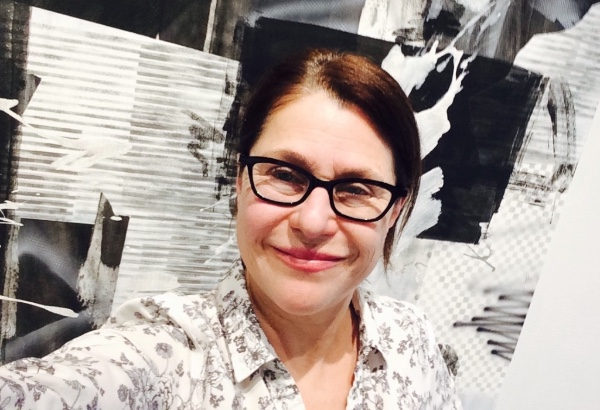 Debra Brehmer with work by Shane Walsh at Portrait Society Gallery.
