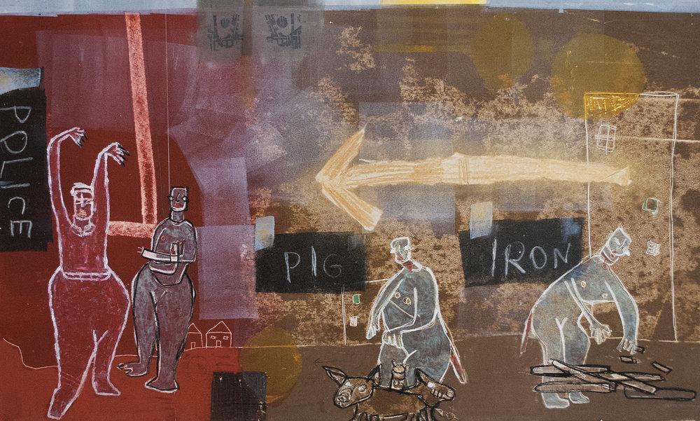 "Iron Pig Police  4 30"" X 18"""