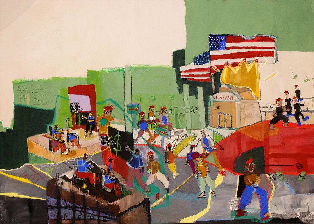 Income Inequality, Imagine  Panel 2 8' x 5.5' ArtPrize 9 | Grand Rapids Art Museum
