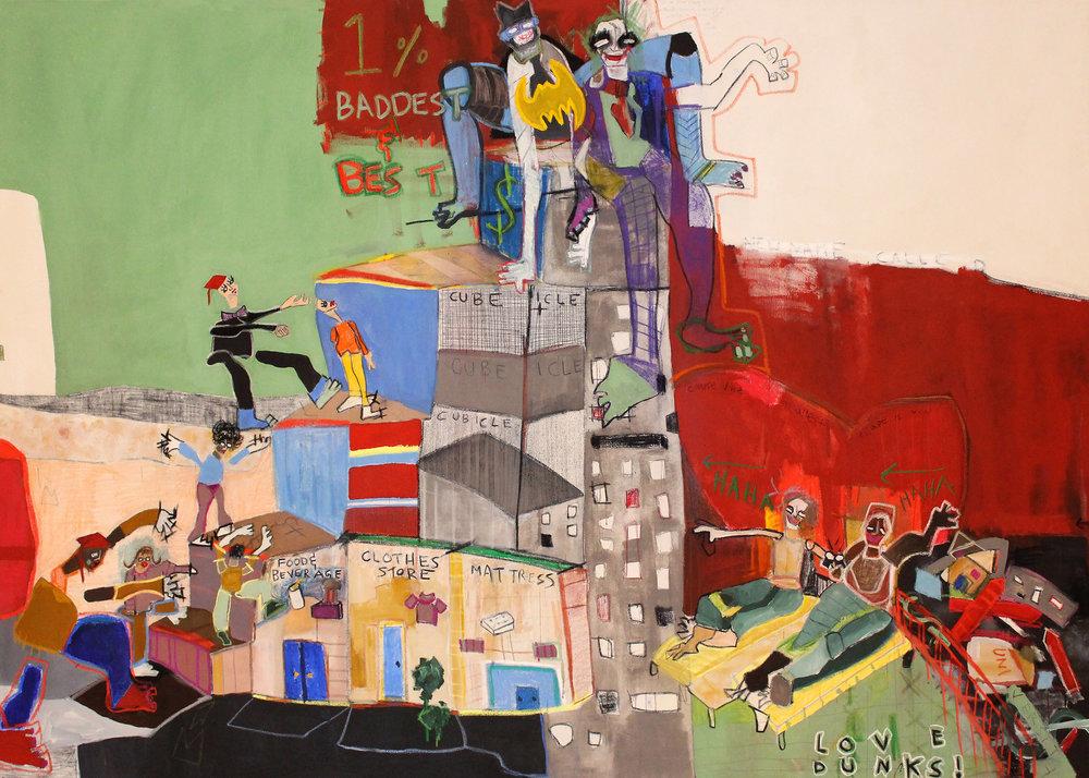 Income Inequality, Imagine  Panel 3 8' x 5.5' ArtPrize 9 | Grand Rapids Art Museum