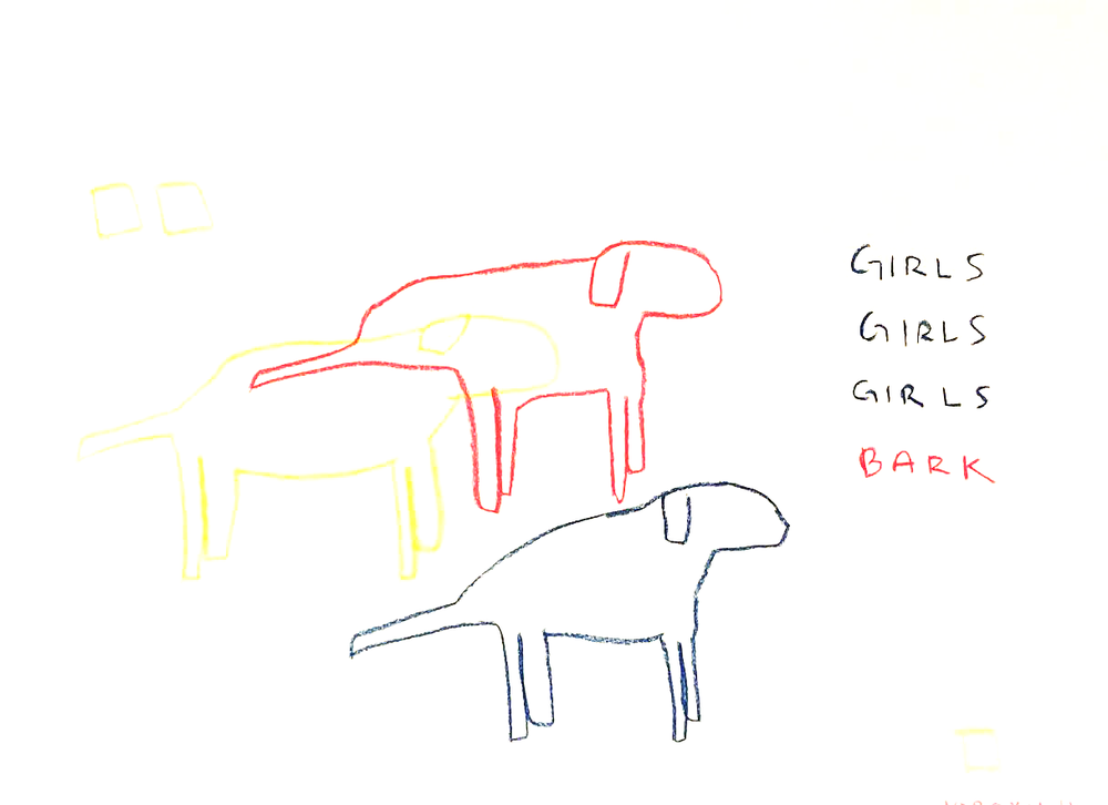 "Girls Girls Girls Bark  2 18"" x 24"""