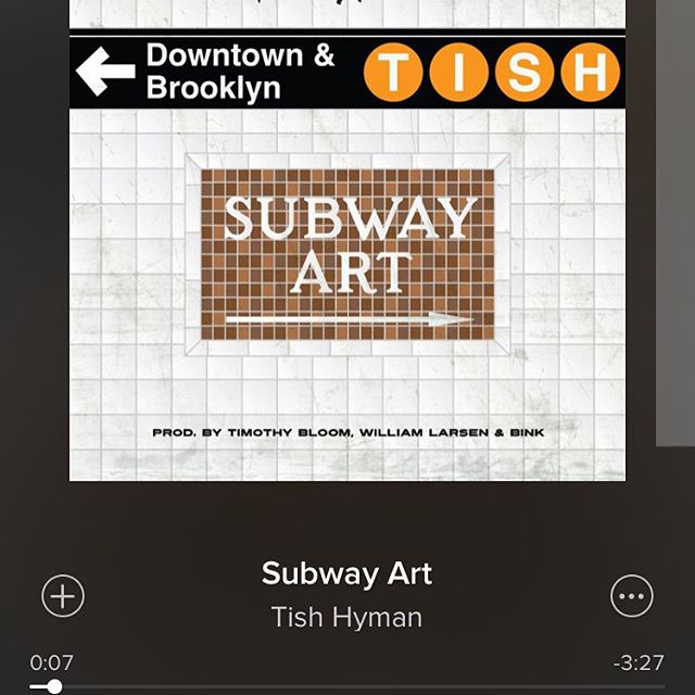 First track Im'a get addicted to in 2016. #newyearnewmusic #2016 #newmusic #newyear #subwayart #tishhyman #nyc #goodmusic