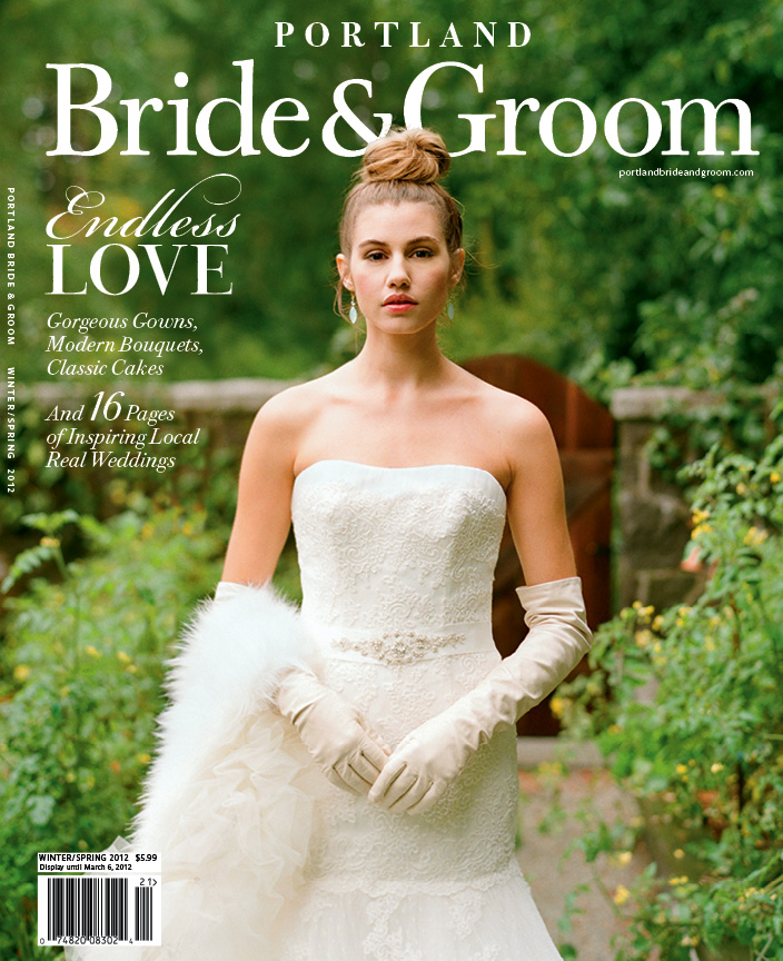 Shamila ~ Fine Jewelry on the Cover of Portland Bride and Groom Magazine Winter 2012