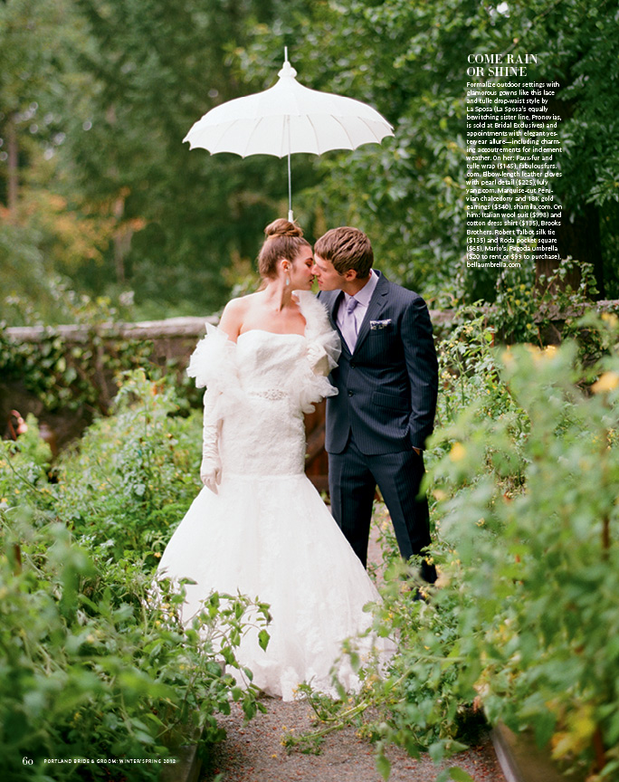 Portland Bride and Groom Magazine - Fashion Feature Winter 2012