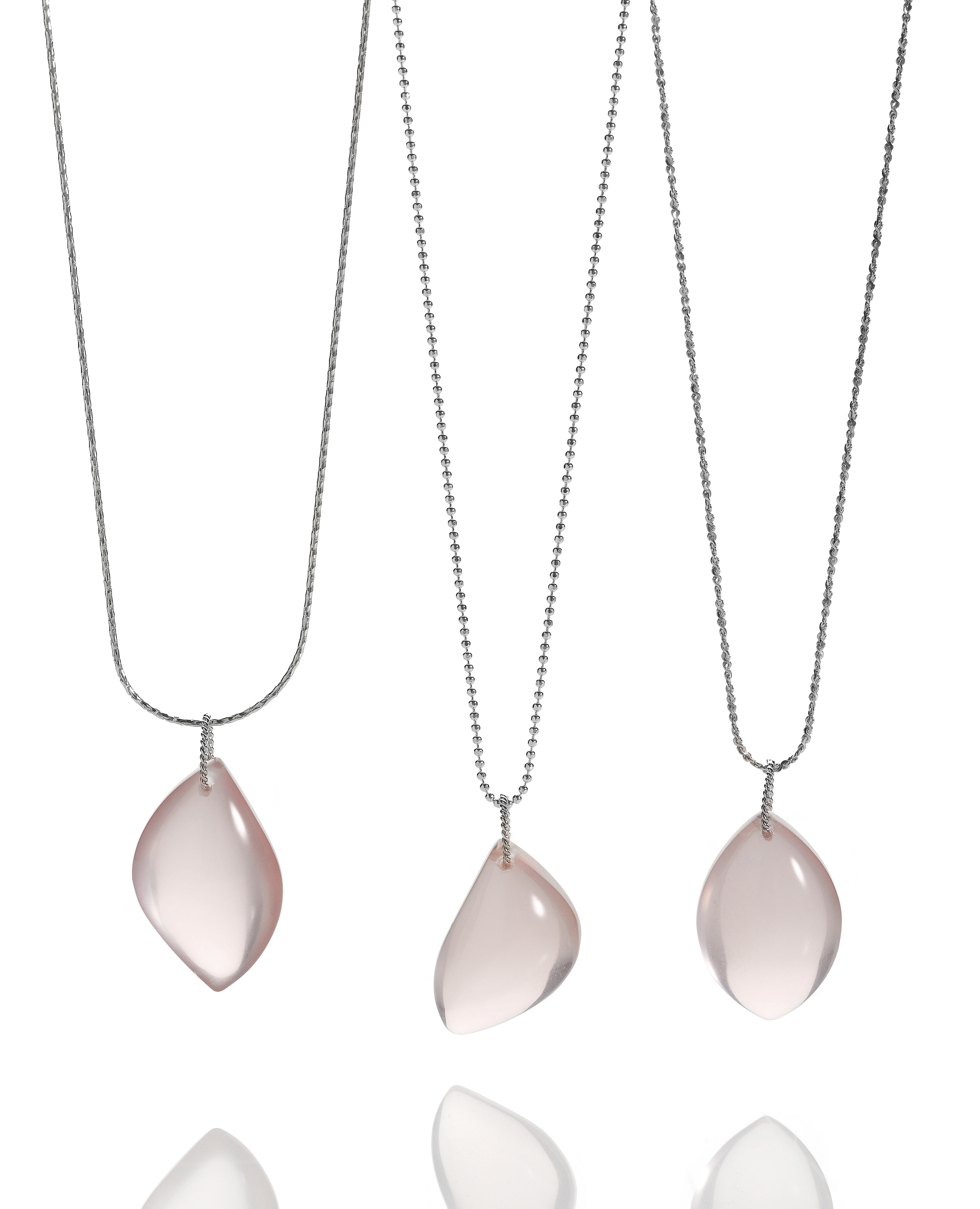 Rose Quartz Necklaces, one of a kind Shamila Fine Jewelry, Seattle