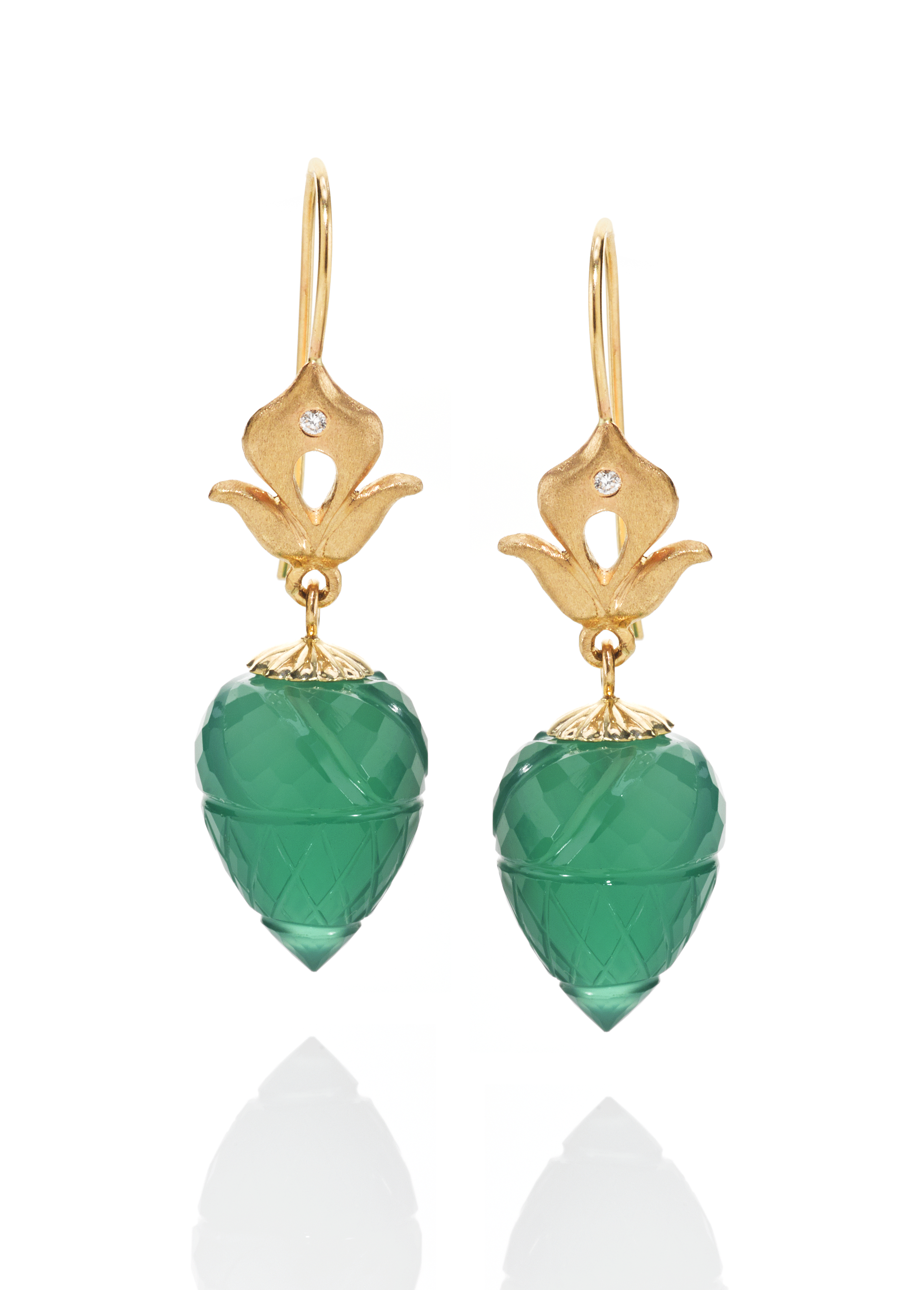 Minaret Green Onyx Earrings