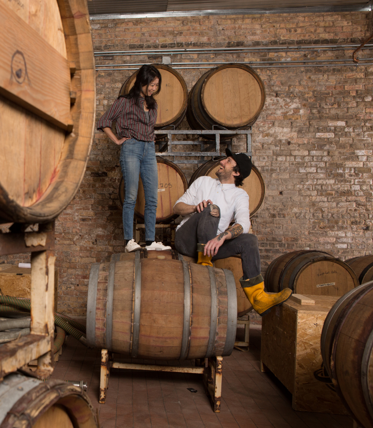 Brian Taylor & Ria Neri, having barrels of fun.