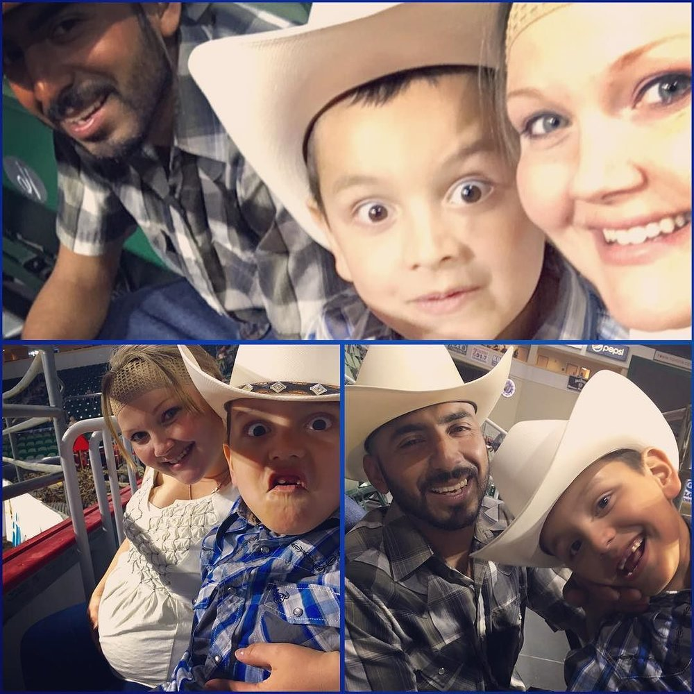 Had a BLAST with my boys last night #Towntoyotacenter #hellonhoovesrodeo #thisiswhatlovelookslike ❤️❤️❤️