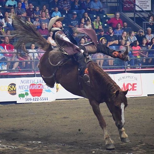 "Oh what a night! The GS Long ""Hell on Hooves"" Roughstock Rodeo was a blast. Join us tomorrow night for your last chance to see this thrilling show! Get ticketing info via the link in our bio. #wenworld #Wenatchee #eastwenatchee #NCW #PNW #upperleftusa #no"