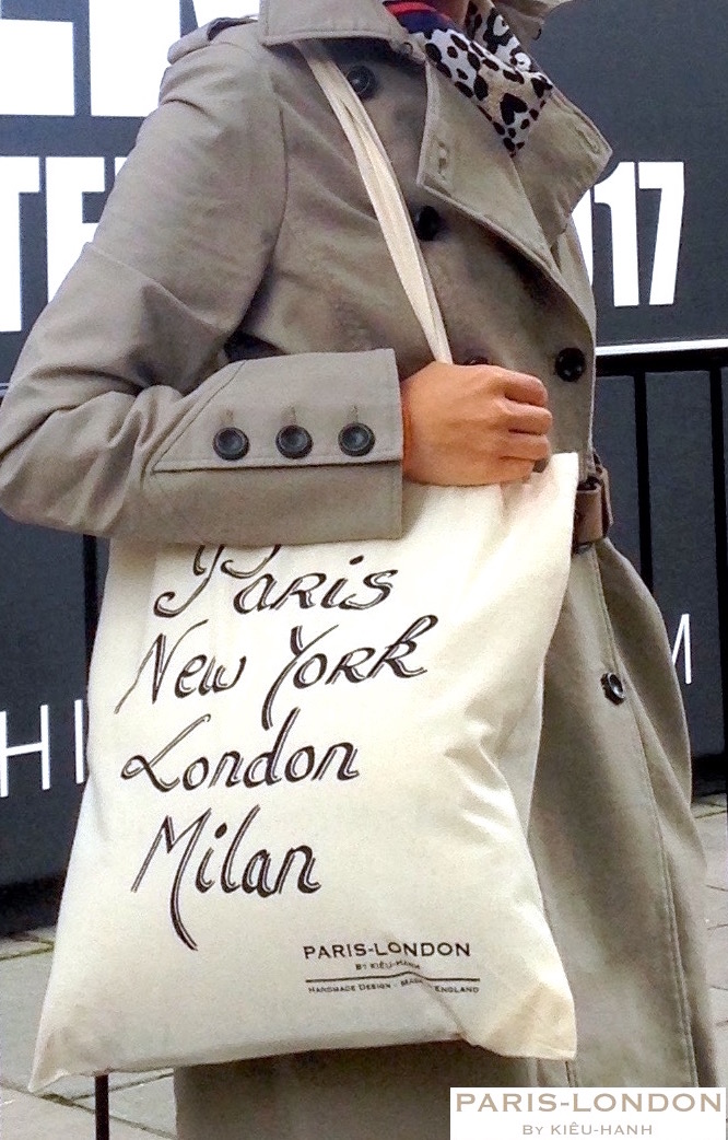 Paris-London By Kieu-Hanh. PARIS NEW YORK LONDON MILAN TOTE BAG.jpg