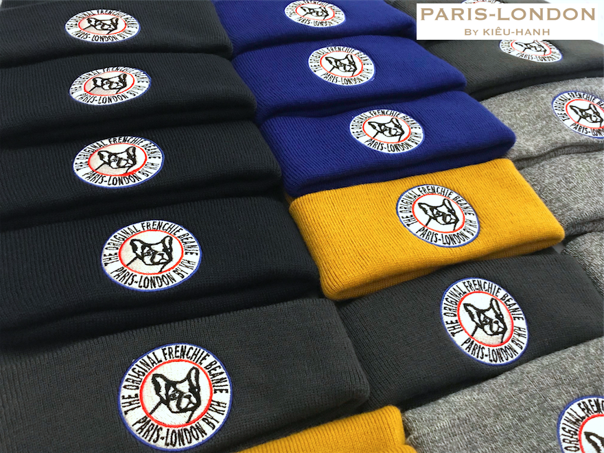 The Original Frenchie Beanie . Handmade Design. Embroidered Beanies. Made in England. Final QC Checks Before Delivery To Our International Customers.