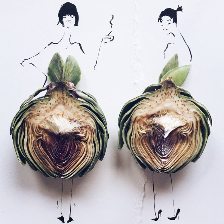 This. @groehrs #art #artichokes #fashion