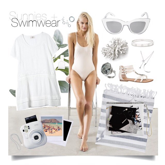 Shop this look on my #polyvore 😎👙  http://martitatiana.polyvore.com      #sunniesandswimwear #lookbook #look #ootd #summer #fashionblog #fashionblogger #style