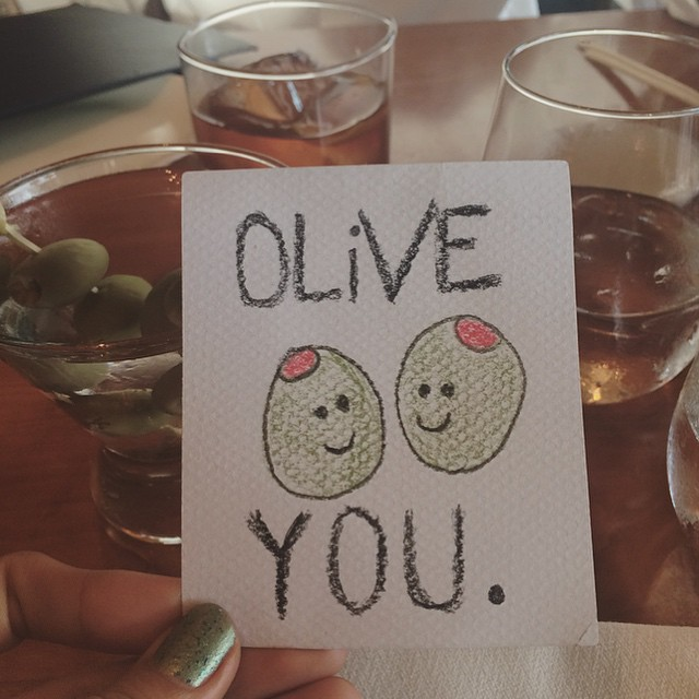 Olive you too🍸❤️ (at Bazaar Meat by Jose Andres at SLS Las Vegas)