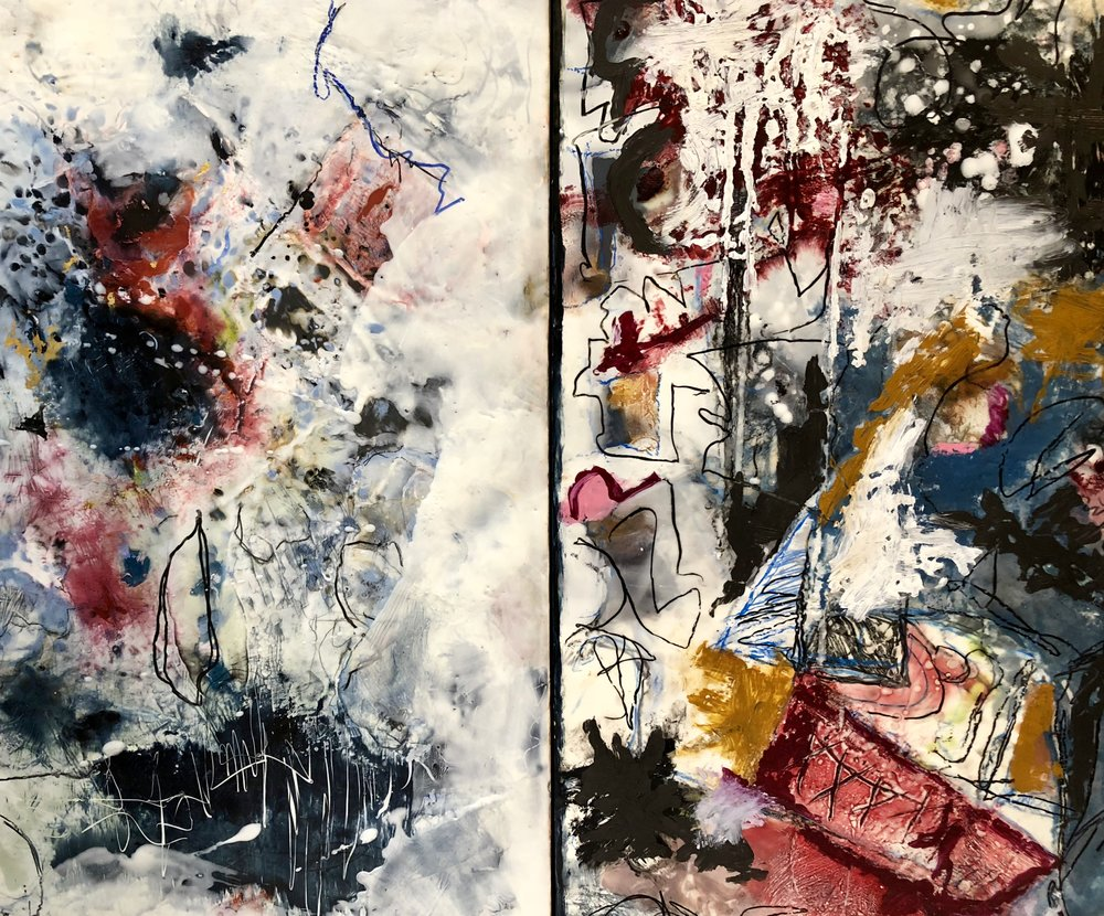 "Diptych — 60"" by 30"" by 2"""