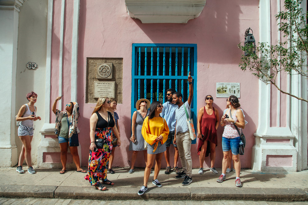 On a guided walk around Old Havana with local architects. Photo by  Amanda Bjorn