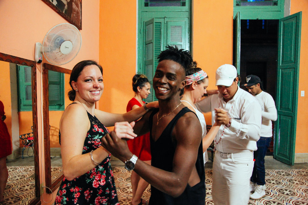 Cuban salsa lessons in session. Photo by  Amanda Bjorn
