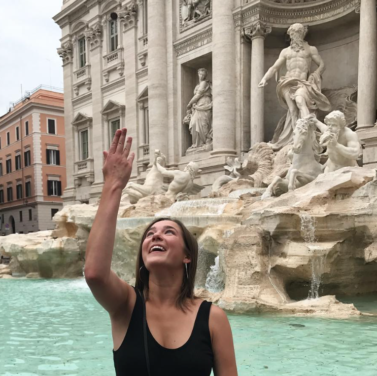 Coin Toss in Trevi Fountain