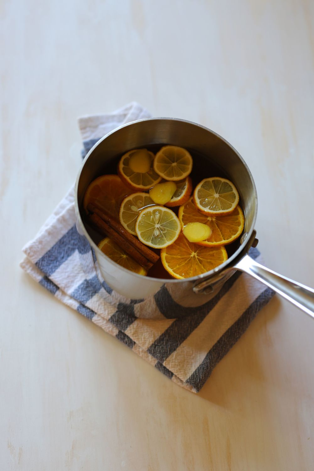Field + Forest | Wassail with lemon, orange, and ginger