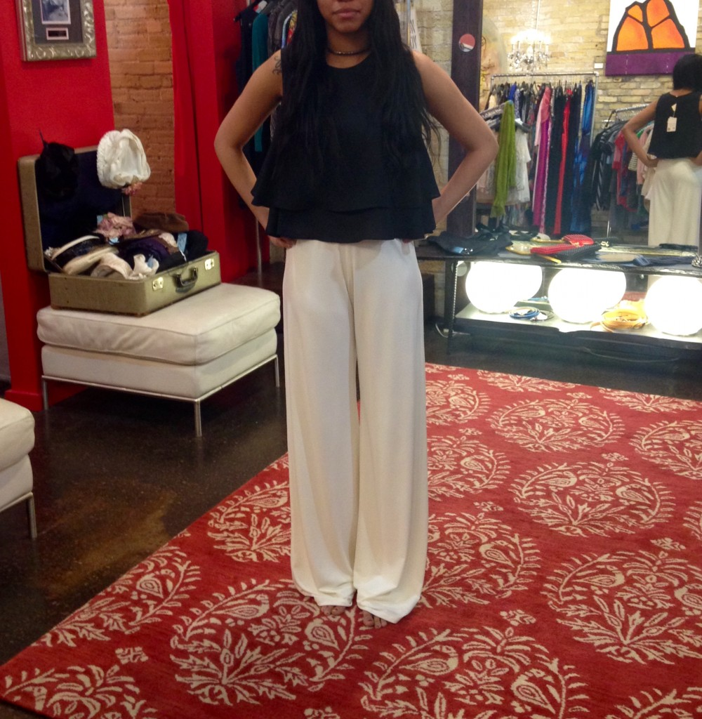 Crop Top : $54, sizes XS-M   Trouser Pants : $136, sizes XS-L