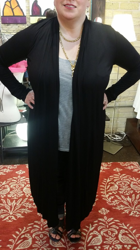 La Vie Layered Necklace: $84 (also available in gold) James & Joy Duster: $84 (sizes S-L)