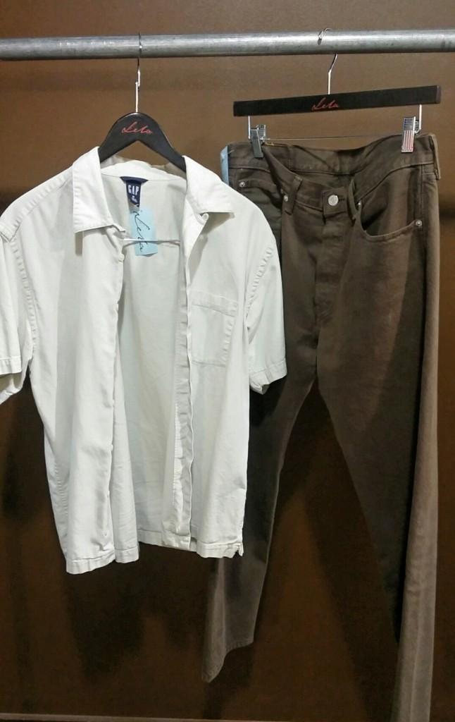 100% Cotton Gap Shirt : $18, size M   Levi Strauss Jeans : $18, size 32x30