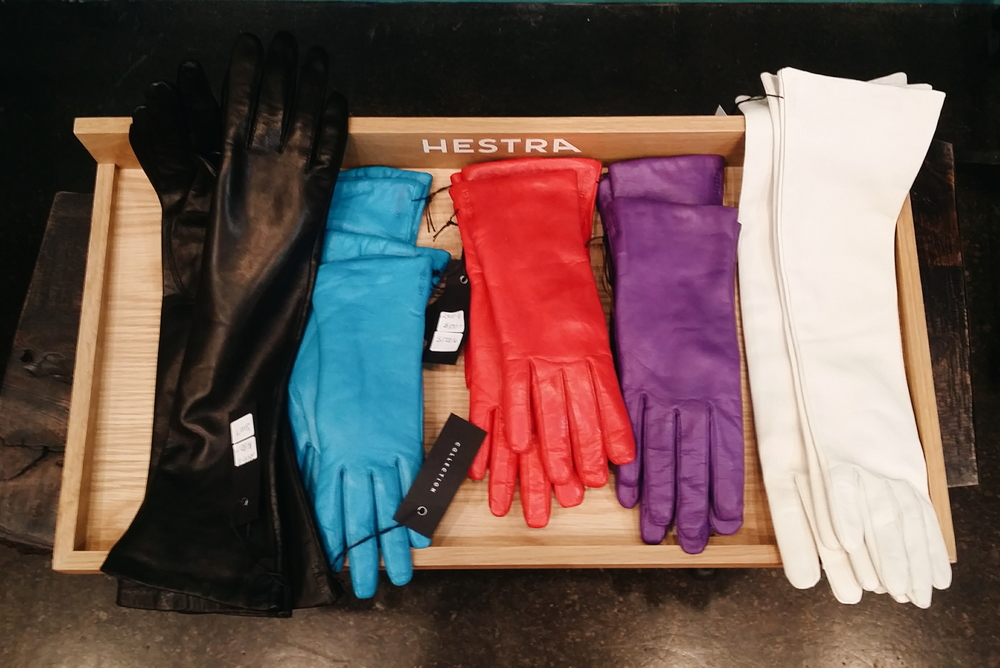 Hestra Leather Gloves: $100 for wrist-length, $180 for elbow-length