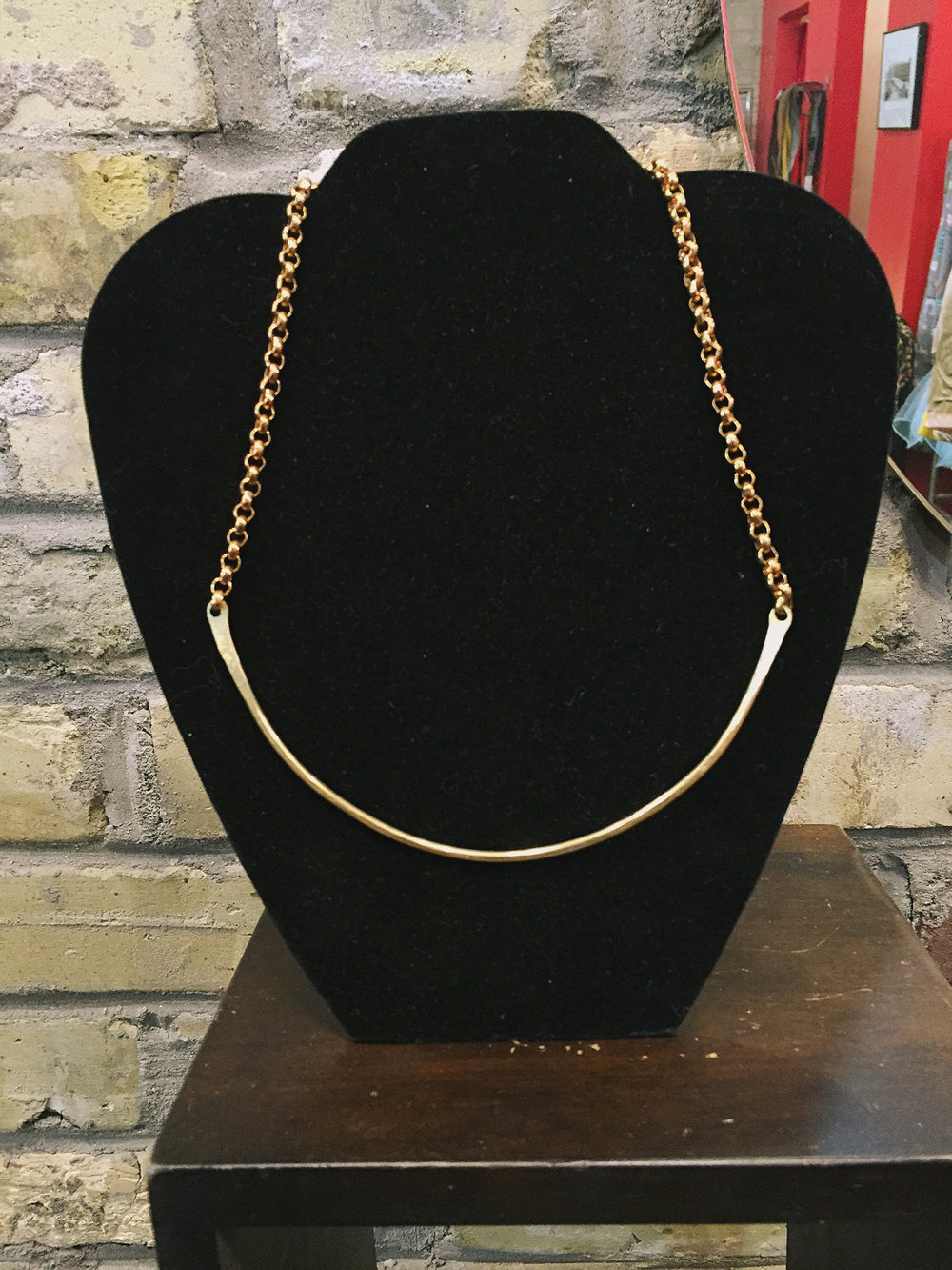 Brass collar, $72