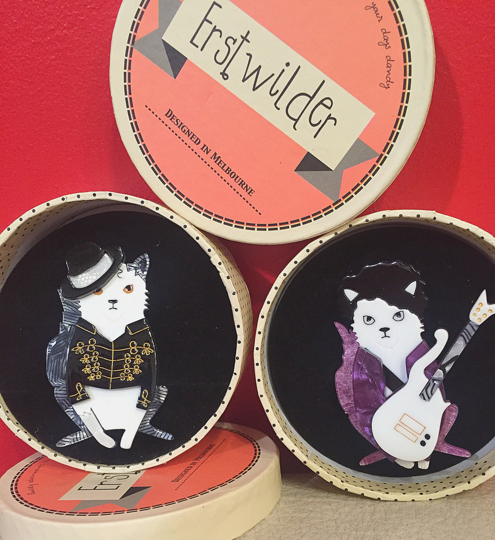 Rock With You and Purple Rain pins - $38 each