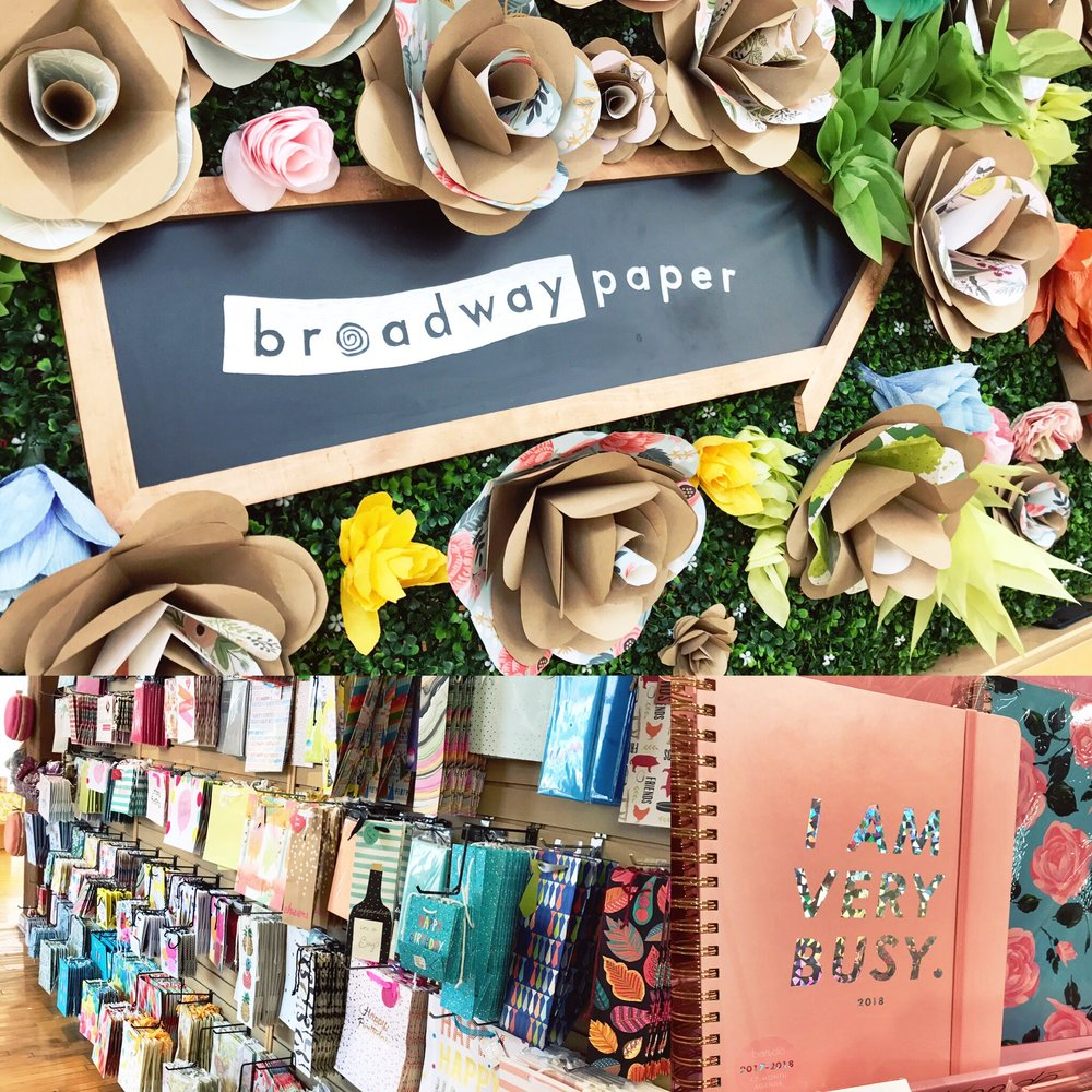 Broadway Paper - Broadway Paper is your one-stop shop for - you guessed it - paper goods!  But most of these paper products are far from ordinary (though their basic items are the highest in quality). They also carry stationary, pens fit for calligraphy, and lots other bits and bobs.