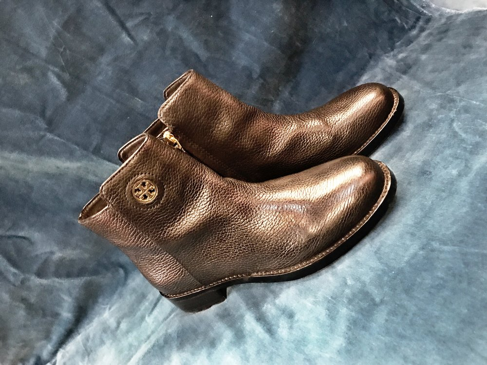 Tory Burch booties, $108 (originally $358), size 7.5